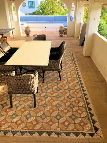 terrace at Casa Mosaica