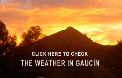 Check out the weather in Gaucin