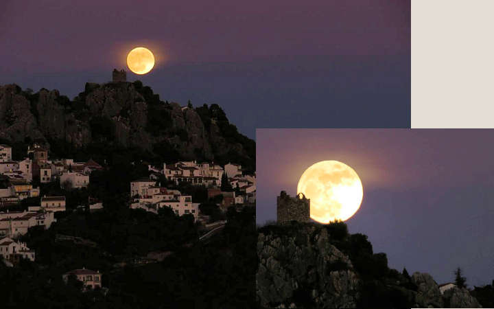 Supermoon over Gaucin