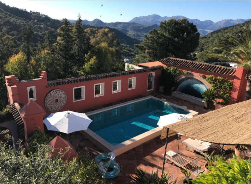 Casa Mosaica pool and view